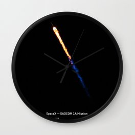 SpaceX — SAOCOM 1A Mission Wall Clock