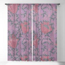 "William Morris ""Anemone"" 5. Sheer Curtain"