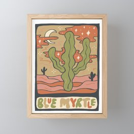Cactus Tarot Cards- Blue Myrtle Framed Mini Art Print