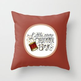 Little Drummer Boy Throw Pillow