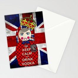 Keep Calm and Drink Vodka Matryoshka Stationery Cards