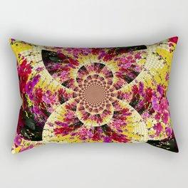 ABSTRACTED FUCHSIA-PINK HOLLYHOCKS GARDEN FLORA Rectangular Pillow