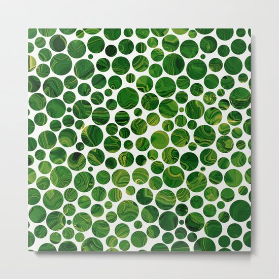 Marble Effect Dots 3 Metal Print