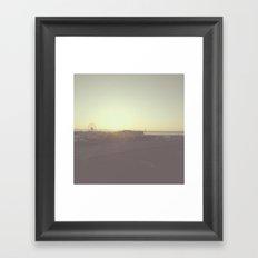 The sunrise and Ferris wheel Framed Art Print