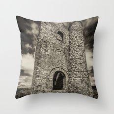 Cripplesease Engine House in Mono Throw Pillow
