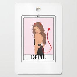 the devil tarot card Cutting Board