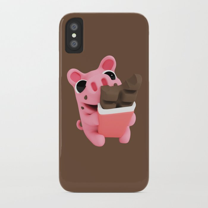 Rosa share chocolate brown iPhone Case