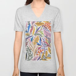 Seamless Cute Floral Unisex V-Neck