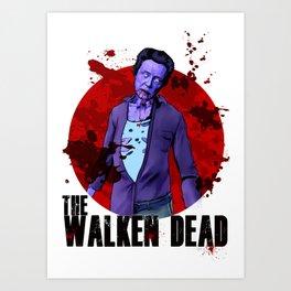 The Walken Dead – The Walking Dead Parody – Christopher Walken Zombie Art Print