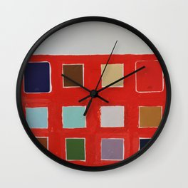 paint sample abstraction Wall Clock