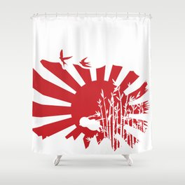 Penguin Bushido Shower Curtain