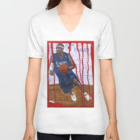 nba V-neck T-shirts featuring NBA PLAYERS - Allen Iverson by Ibbanez