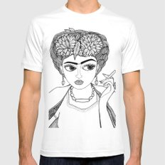 Ode to Frida MEDIUM Mens Fitted Tee White