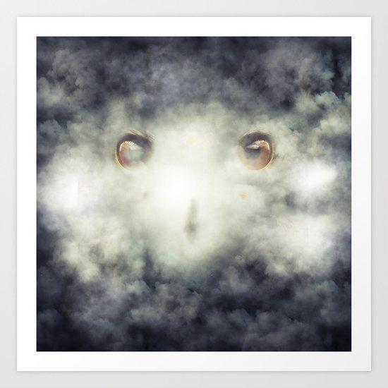 Eagle Fog Art Print