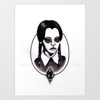 Wednesday Addams Print Art Print