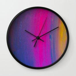 Magical Neon Streaks of Light Wall Clock