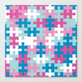 Puzzle abstract pattern Canvas Print