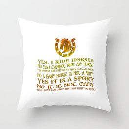 The Best Horse Ever! Throw Pillow