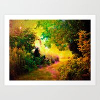 heaven Art Prints featuring HEAVEN by 2sweet4words Designs