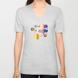 planetarium abstract geometrical design Unisex V-Neck