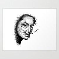 dali Art Prints featuring Dali by Robin Ewers