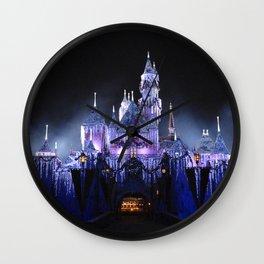Sleeping Beauty's Winter Castle (Night-time, no 1) Wall Clock