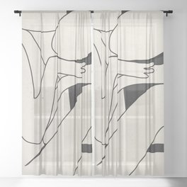 Abstract Art 15 Sheer Curtain