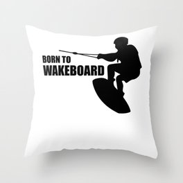 Wakeboarding waterskiing Throw Pillow