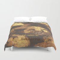 baking Duvet Covers featuring I'd rather be baking by inesmarinho