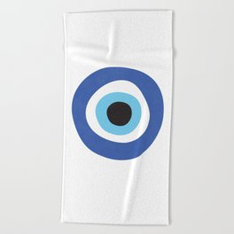 Evi Eye Symbol Beach Towel