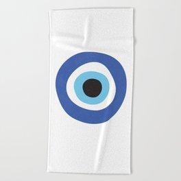 Evi Eye Symbol Beach Towel