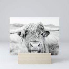 Cheeky Highland Cow Mini Art Print