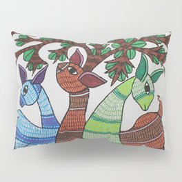 Gond painting - Deer Pillow Sham