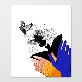 Shadow Dove Canvas Print