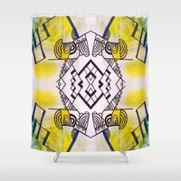 birdy Shower Curtains featuring birdy by Ashley James