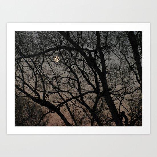 ghost moon Art Print