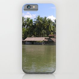 Village on the banks of the Mekong River, Laos iPhone Case