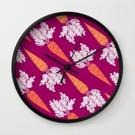 Carrots III Wall Clock