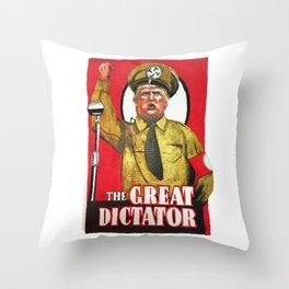 Donald Trump The Great Dictator Throw Pillow