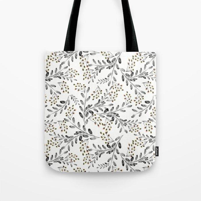 Delicate floral pattern. 1 Tote Bag