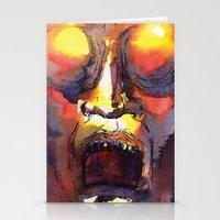 fear Stationery Cards featuring Fear  by Stevyn Llewellyn