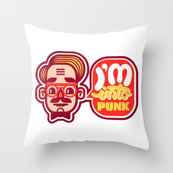 I'm Into Punk Throw Pillow