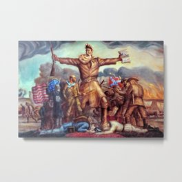 Classical Abolitionist Masterpiece by John Steuart Curry - Tragic Prelude  - John Brown. Metal Print