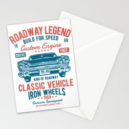 Roadway Legend Build For Speed Stationery Cards