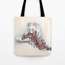 Zorrito con su presa Tote Bag