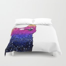 Galaxy Serval Duvet Cover