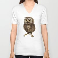 hedwig V-neck T-shirts featuring My Hedwig by Mathis Designs