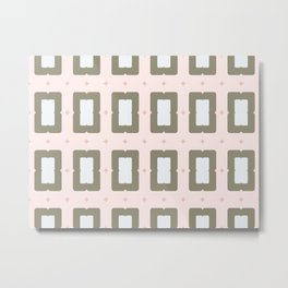 Soft Pinched Rectangles Metal Print