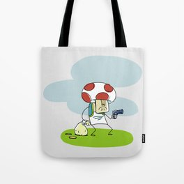 Troubled Times in Mario World Tote Bag