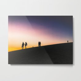 Sunset on a Hill Metal Print